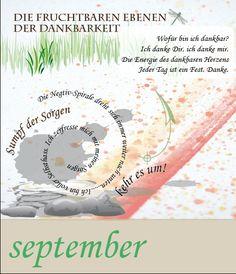"""Calendarium - Persönliche Entwicklung - train the eight - design: Dodo Kresse - Thema 9: """"Dankbarkeit"""""""