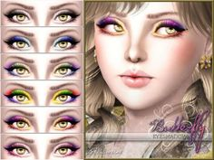 FREE Butterfly Eyeshadow by Pralinesims at The Sims Resource - Social Sims 3 Finds