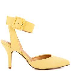 Law Rence heels Lt Yellow Suede brand heels Luichiny  Heels 
