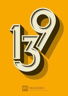 Pixelonomics #numerals #3d #poster