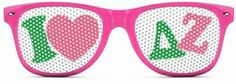 Delta Zeta Wayfarer Style Lens Sunglasses SALE $12.95. - Greek Clothing and Merchandise - Greek Gear®