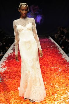 Claire Pettibone's Still Life Wedding Dress Collection