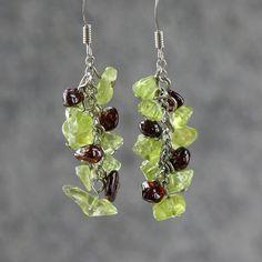 earrings chandelier dangle drop stone by AniDesignsllc on Etsy, $9.95