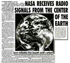NASA has received radio signals from the center of the earth. These signals are being picked up by tracking satellites. NASA has decoded them but won't reveal the contents. The source of thi… Aliens And Ufos, Ancient Aliens, Ancient History, European History, American History, Atlantis, Nasa, Operation Highjump, Mystery