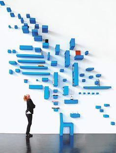 Blue installation