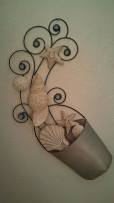 Seashell Bucket  #beach #seashells #starfish #sanddollars