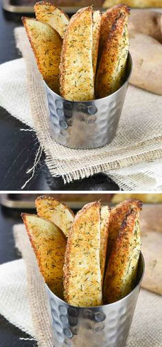 Oven Baked Garlic Potato Wedges   30 Healthy After School Snacks for Kids   Quick and Easy After School Snacks for Teens