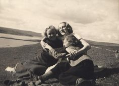 Three sisters walking out on the hill, Highlands Three Sisters, Family Album, Photo Archive, British Style, Highlands, Great Britain, 1930s, Walking, Couple Photos