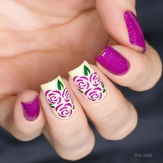 """Picture Polish """"Allure """", """"Mellow Yellow"""", """"Hercynia"""" & Whats Up Nails Roses Stencils"""