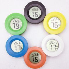 20pcs/lot  LCD Digital Temperature Humidity Meter Thermometer Hygrometer Fridge Freezer tester  30%off