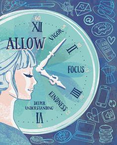 Meditation mindfulness editorial illustration Ohn Mar Win