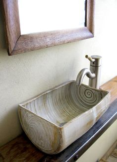 Small Handmade Sink...seriously beautiful!                                                                                                                                                      More