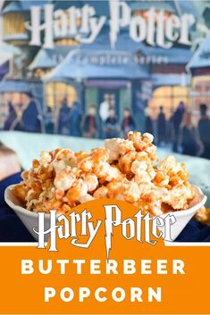 This Harry Potter Butterbeer Popcorn is a snack inspired by our favorite books and the perfect treat for any fan or a Harry Potter movie marathon!