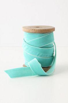 Tiffany Blue Velvet Ribbon
