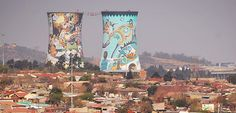 The Orlando Towers in Soweto Africa Travel, Dream Vacations, South Africa, Paris Skyline, Towers, Orlando, Google Search, Orlando Florida, Tours