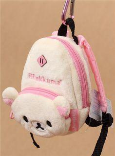 Rilakkuma white bear backpack plush charm