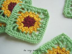 The Lazy Hobbyhopper: Gloriosa daisy square