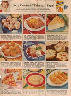 recipe books from the 1950's | Betty Crocker's Take-Out Recipes - 1959 - Click To View Larger