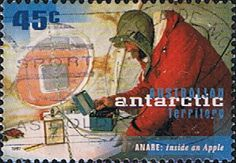 Australian Antarctic Territory 1997 Research Expeditions Tuning a radio Fine Used SG 118 Scott L103 Other Australian Antarctic territory
