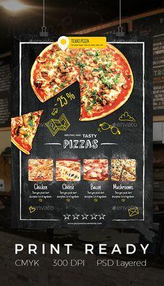 Pizza Restaurant Flyer — Photoshop PSD #mushrooms #promotion • Download ➝ https://graphicriver.net/item/pizza-restaurant-flyer/19286540?ref=pxcr
