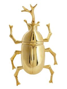Beetle Brass Paperweight