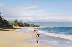 Maui Northshore Love beach portrait session, Baldwin beach // Hawaii Photography Honeymoon , engagement session