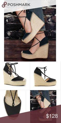 VINCE CAMUTO AIRLIA BLACK 8.5 NEW VINCE CAMUTO AIRLIA BLACK 8.5 NEW, suede wedge espadrille Vince Camuto Shoes Espadrilles