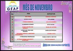 Calendário de Palestras Públicas do GEAP – Grupo Espírita Antonio de Pádua Novembro de 2015 – Sto Antônio de Pádua – RJ - http://www.agendaespiritabrasil.com.br/2015/10/30/calendario-de-palestras-publicas-do-geap-grupo-espirita-antonio-de-padua-novembro-de-2015-sto-antonio-de-padua-rj/