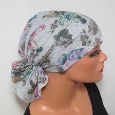 1 BANDANA  in hochwertigen Jersey Exclusives Bandana/Mütze  in grau gemustert  o h n e  binden!  Sollte Ihnen die Mütze ein bisschen zu locker sitzen oder Sie sich unsicher fühlen , können Sie...