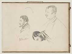 Sketches of Men in Profile (Getty Museum)