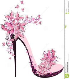 Pink High Heels, Pink, Continental, High Heeled Shoes PNG Transparent Clipart Image and PSD File for Butterfly Shoes, Pink Butterfly, Pink Flowers, Butterflies, Fashion Art, Fashion Shoes, Mode Poster, Pink High Heels, Shoe Art
