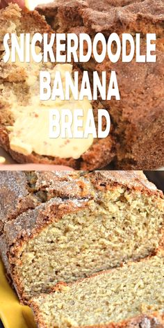 Snickerdoodle Banana Bread – Shugary Sweets Snickerdoodle Banana Bread Take your classic banana bread recipe to the next level! This Snickerdoodle Banana Bread recipe has a crunchy top coating of cinnamon and sugar, a real crowd pleaser! Snickerdoodles, Breakfast Recipes, Dessert Recipes, Desserts, Banana Bread Recipes, Banana Recipes Videos, Recipie Videos, Overripe Banana Recipes, Bread Machine Banana Bread