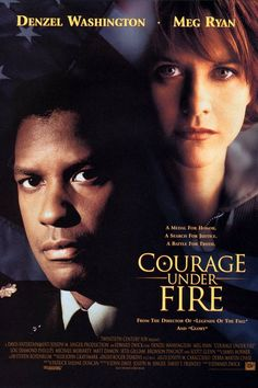 Courage under fire - 1996 : starring Denzel Washington, Meg Ryan, Lou Diamond Phillips and Matt Damon.the movie about the Gulf War.I enjoyed this movie. but had a question about Meg Ryan playing her role of military captain in the War field. Meg Ryan, Denzel Washington, Fire Movie, It Movie Cast, Movie Tv, Movie List, Movies And Series, Movies And Tv Shows, Tv Series