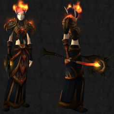 [Cloth] Usable by mages only.  Head: [Circle of Flame] Shoulder: [Sanctified Bloodmage Shoulderpads] Chest: [Sanctified Bloodmage Shoulderpads] Hands: [Hands of Darkness] Waist: [Cincture of Polarity] Feet: [Veteran's Silk Footguards] Staff: [Bloodfire Greatstaff]