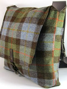 tweed messenger bag