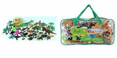 ANIMAL PLANET Animal World Mega Bag/ 51 Pieces (NIP) Boys and Girls