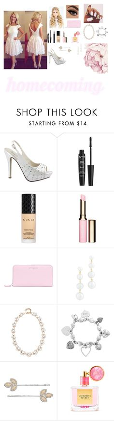 """"""""""" homecoming week: Saturday homecoming dance """"rtd"""" by seashore77 ❤ liked on Polyvore featuring Touch Ups, NYX, La Roche-Posay, Gucci, Clarins, Givenchy, Rebecca Minkoff, Stella + Ruby, ChloBo and LC Lauren Conrad"""