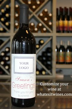 Your clients will really know how much you appreciate them with custom wine labels!