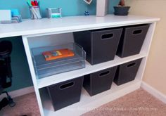 Ana White | Build a Bookshelf Base for Desk featured on HGTV's Saving Alaska | Free and Easy DIY Project and Furniture Plans
