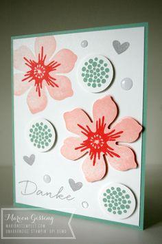 Stampin Up; Beautiful Bunch, Malerische Grüße, Geburtstagskarte