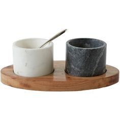 Gatherings Marble 4 Piece Serving Bowl Set ❤ liked on Polyvore featuring home, kitchen & dining and serveware