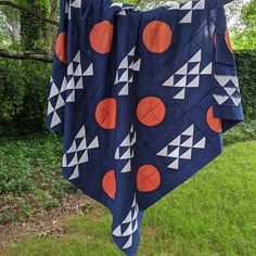 Modern Quilt Patterns, Modern Quilting, Southwestern Quilts, Orange Quilt, Sampler Quilts, Cotton Textile, Single Image, Quilt Top, Alien Logo