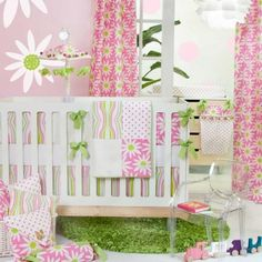 Baby Bedding Sets   - Pin it :-) Follow us .. CLICK IMAGE TWICE for our BEST PRICING ... SEE A LARGER SELECTION of  Baby bedding sets  at  http://zbabybaby.com/category/baby-categories/baby-nursery/baby-armoire/ - gift ideas, baby , baby shower gift ideas, kids  - Cartwheels 5 Piece Baby Crib Bedding Set with Floral Pillow by Glenna Jean « zBabyBaby.com