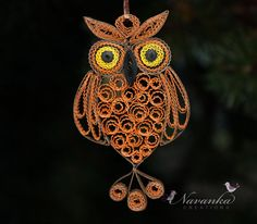 Paper Quilling Owl by NavankaCreations,