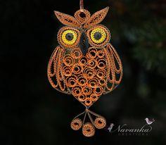 Paper Quilling Owl by NavankaCreations,