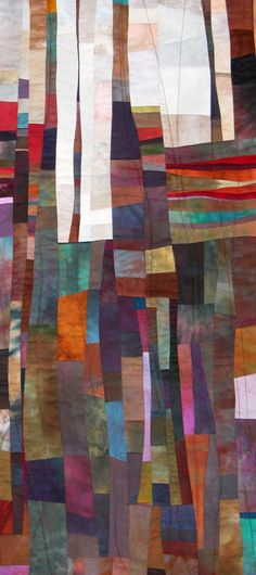 works of beth aten, hand dyed fabrics and stitching