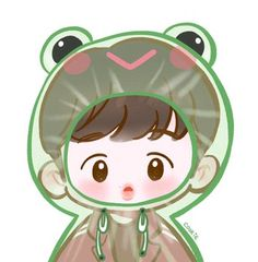 Chibi Wallpaper, Cute Pastel Wallpaper, Cartoon Wallpaper, Exo Cartoon, Cartoon Art, Exo Stickers, Cute Stickers, Chibi Body, Exo Fan Art