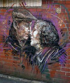 Manchester, nuovo pezzo dello street artist francese C215.