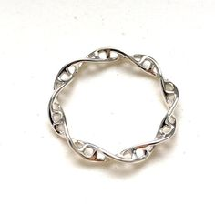 science jewelry : silver DNA ring size - 3D printed DNA ring - wearable science - human cell - genetics-DNA
