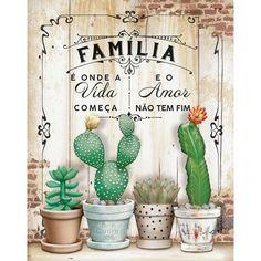 Decoupage Vintage, Vintage Paper, Cactus Decor, Cactus Art, Cactus Y Suculentas, Chalkboard Art, Tole Painting, Vintage Labels, Stencils